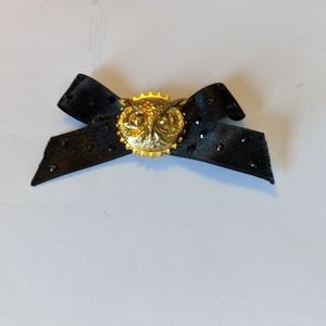 Tarina Tarantino steampunk owl mini bow